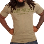 Camp Muscle Distressed Bodybuilding T-Shirt