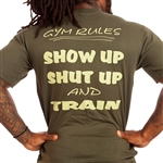 Camp Muscle Gym Rules Bodybuilding T-Shirt