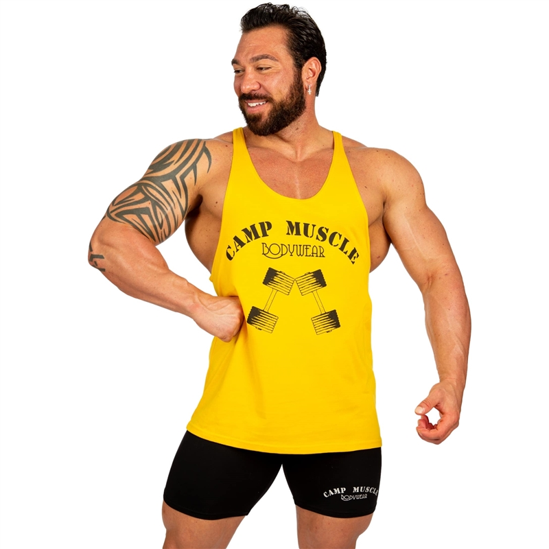 c29ec8d3e295a Camp Muscle Logo Razor Bodybuilding Tank Top