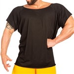 Men's Wide-Neck Tapered Bodybuilding Shirt