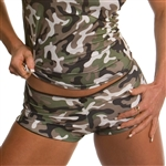 Our camo booty shorts made to match our camo cami tank top. Soft, lightweight booty shorts.
