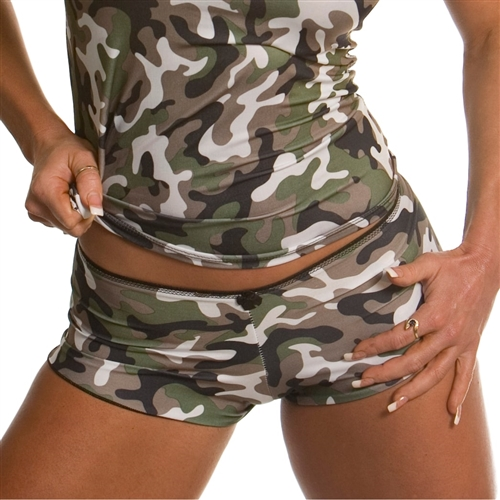 Women's Camo Booty Boy Shorts