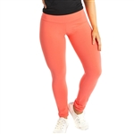 Quality, 80% Nylon 20% Spandex Mid-Rise Yoga Leggings are form-fitting all the way to the ankle and made right here in the USA