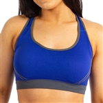 Our striped sports bra, sized for smaller for juniors, with crossover back design is perfect on its own or under your tank or your favorite tee.