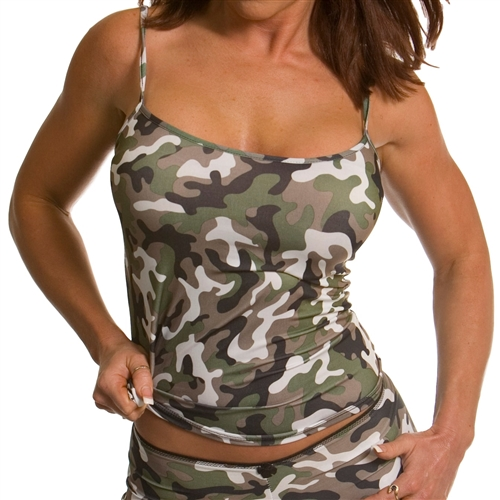 Women's Camo Cami Tank Top