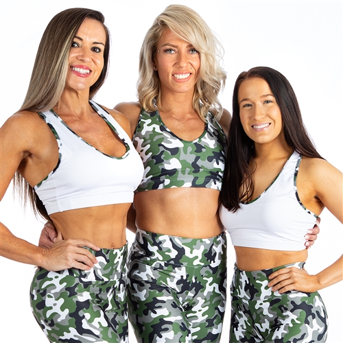 Women's Racerback Camo Sports Bra