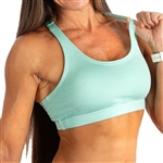 Heather Powdered Racerback Sports Bra