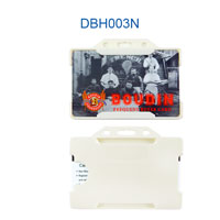 DBH003 hard plastic badge holders are 1 card hard plastic id holders.
