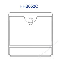 HHB052C horizontal id badge holders are top loading multi pocket badge holders with bulldog clip.