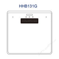 HHB131G Magnetic Id Badge Holder