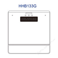 HHB133G Magnetic Title Bar Id Holder