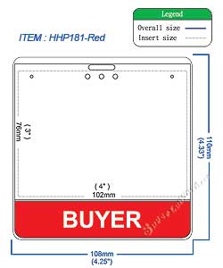 HHP181 BUYER title badge holder is a single pocket of Horizontal badge holder.