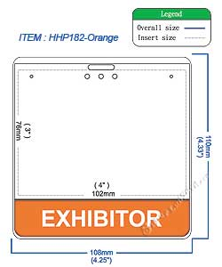 HHP182 EXHIBITOR title badge holder is a single pocket of Horizontal badge holder.
