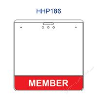 HHP186 MEMBER title badge holder is a single pocket of Horizontal badge holder.