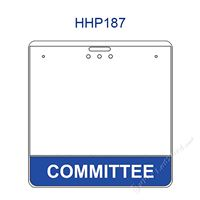 HHP187 COMMITTEE title badge holder is a single pocket of Horizontal badge holder.
