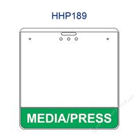 HHP189 MEDIA/PRESS title badge holder is a single pocket of Horizontal badge holder.