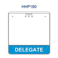 HHP190 DELEGATE title badge holder is a single pocket of Horizontal badge holder.