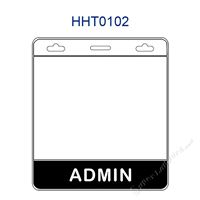 HHT0102 ADMIN title badge holder is a single pocket of horizontal badge holder.