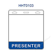 HHT0103 PRESENTER title badge holder is a single pocket of horizontal badge holder.