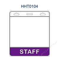 HHT0104 STAFF title badge holder is a single pocket of horizontal badge holder.