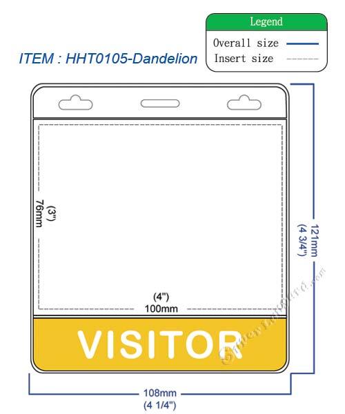 VISITOR title badge holder - HHT0105