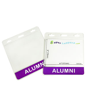 HHT0106 ALUMNI title badge holder is a single pocket of horizontal badge holder.
