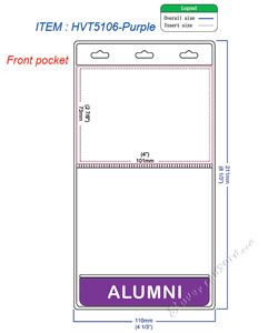 HVT5106 ALUMNI title badge holder is a 2 pocket of vertical badge holder.