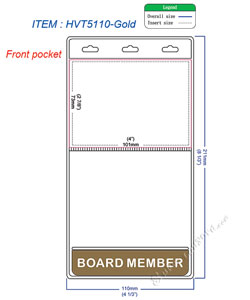 HVT5110 BOARD MEMBER title badge holder is a 2 pocket of vertical badge holder.
