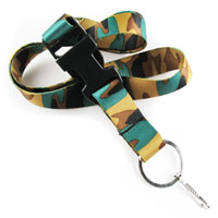 The camouflage pattern is printed on the strap of LHD6001 camo lanyards.