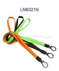 The single color keyring tube lanyard with a swivel keyring.