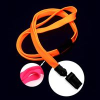 LNB322BHPK Hot Pink Hot Pink Blacklight Lanyard
