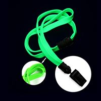 LNB322BLMG Lime Green Lime Green Blacklight Lanyard