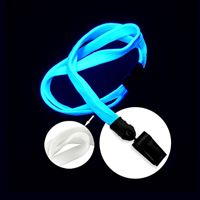 LNB322BWHT White White Blacklight Lanyard