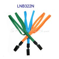 The single color plastic clip tube lanyards with plastic id clips.