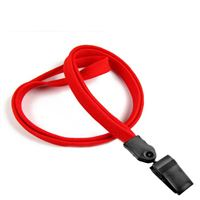 LNB322NRED Red Red Clip Lanyard