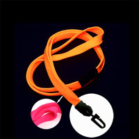 LNB323BHPK Hot Pink Hot Pink Blacklight Lanyard