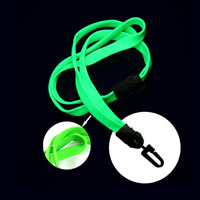 Lime Green UV Reactive breakaway lanyard with hook