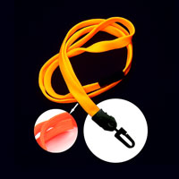 Neon Orange UV Reactive breakaway lanyard with hook