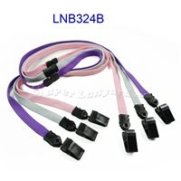 Breakaway Lanyard with double clip-LNB324B