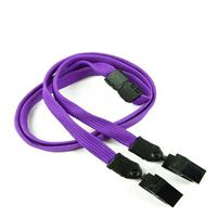LNB324BPRP Purple Breakaway Lanyards
