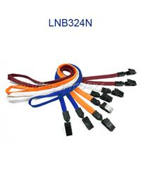 Lanyards with double plastic clip-LNB324N