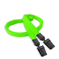 LNB324NLMG Lime Green Lime Green Double Clip Lanyard