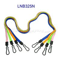 The single color double swivel j hook lanyards with swivel hooks.