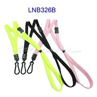 Id Lanyard with breakaway and plastic j hook and adjustable bead-LNB326B