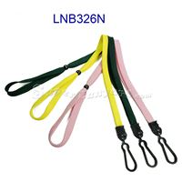 Lanyard with plastic j hook and adjustable bead-LNB326N
