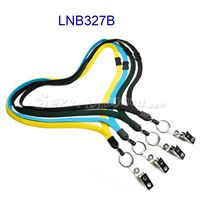 Breakaway Lanyards with split ring and ID strap clip-LNB327B