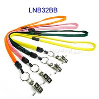 Breakaway Lanyard with key ring and ID strap pin clip-LNB32BB