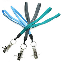 Id Lanyard with metal key ring and ID strap pin clip-LNB32BN