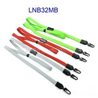 Breakaway Lanyards with double hook and adjustable bead for masks-LNB32MB