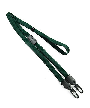 LNB32MBHGN Hunter Green Hunter Green Double Hook Lanyard